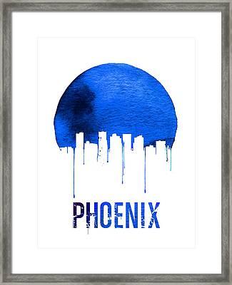 Phoenix Skyline Blue Framed Print
