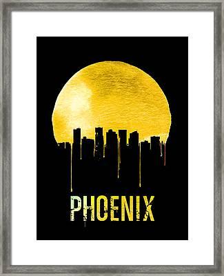 Phoenix Skyline Yellow Framed Print