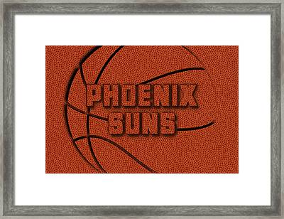 Phoenix Suns Leather Art Framed Print