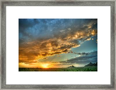 Phoenix Sunset Framed Print