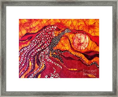 Phoenix Sweeps The Earth Framed Print