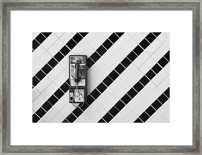 Phone And Lines Framed Print
