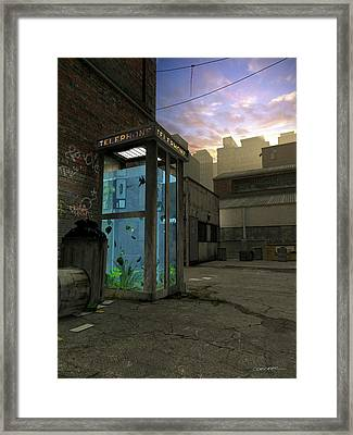 Phone Booth Framed Print