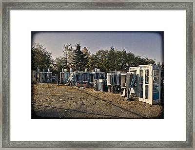 Phone Booth Graveyard Framed Print by Kelley King