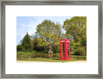 phone box in England Framed Print