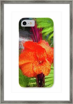 Phone Case 1 Framed Print by Mona Stut