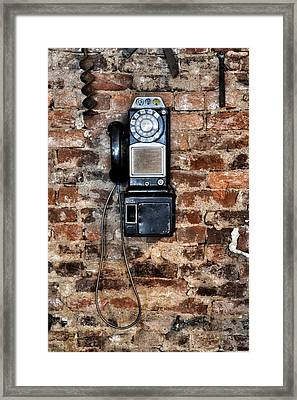 Pay Phone  Framed Print