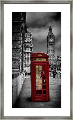 Phonebox Framed Print by Martin Newman