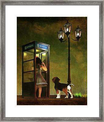 Phoning Home Framed Print by Jan Keteleer
