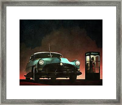 Phoning Woman Framed Print