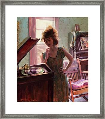 Phonograph Days Framed Print