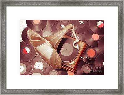 Phonograph Music Player Framed Print by Jorgo Photography - Wall Art Gallery