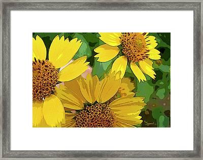 Yellow Wildflowers Photograph II Framed Print
