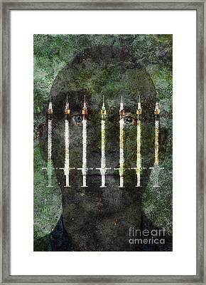Photo Illustration Depicting Drug Framed Print by George Mattei
