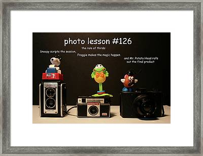 Photo Lesson  Framed Print by Toni Hopper