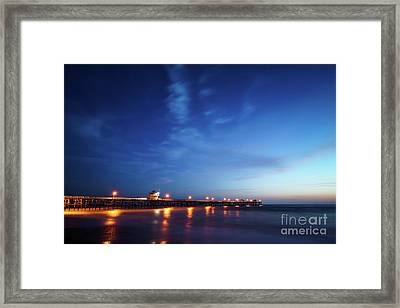 Photo Of San Clemente Pier At Sunset Framed Print
