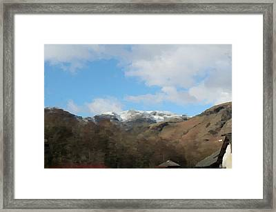 Framed Print featuring the digital art Photo/painting by JLowPhotos
