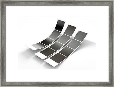 Photobooth Instant Photographs Framed Print