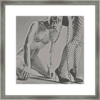 Photograph Bdsm Style In Black And White #0547d Framed Print
