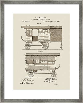 Photograph Gallery Wagon Patent Framed Print by Dan Sproul
