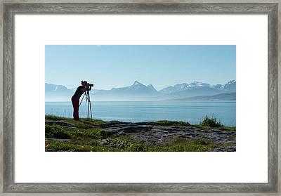 Photograph In Norway Framed Print by Tamara Sushko