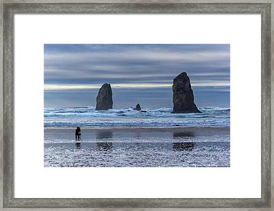 Photographer At Cannon Beach Framed Print by David Gn
