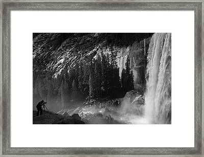 Photographer At Vernal Falls Framed Print