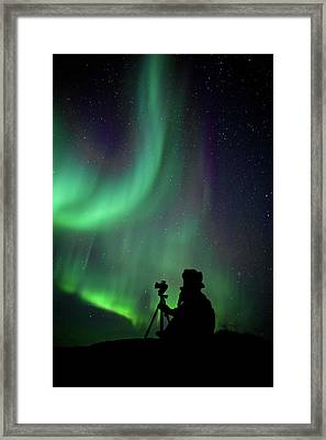 Photographer Catching Beautiful Light Framed Print by Lars Mathisen Photography