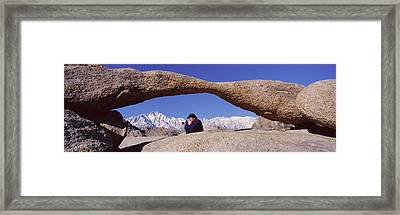 Photographer Joe Sohm With Panoramic Framed Print by Panoramic Images
