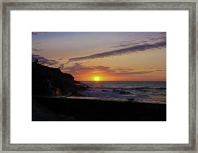 Photographer's Sunset Framed Print by Terri Waters