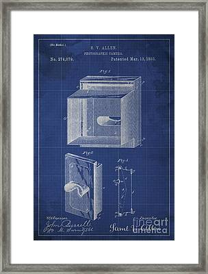 Photographic Camera Patent Year 1883 Framed Print