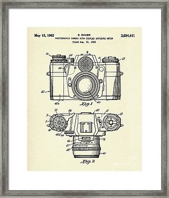 Photographic Camera With Coupled Exposure Mete-1962 Framed Print by Pablo Romero