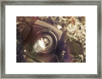 Photographic Lens Reflections Framed Print