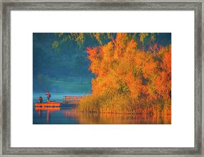 Framed Print featuring the photograph Photographing The Sunrise by Marc Crumpler