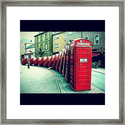 #photooftheday #london #british Framed Print by Ozan Goren