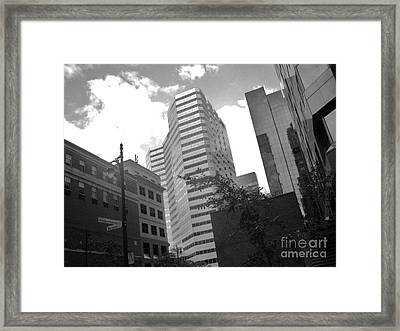 Photos Of Montreal Mansfield St Framed Print by Reb Frost
