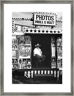 Photos While U Wait Framed Print by Todd Fox