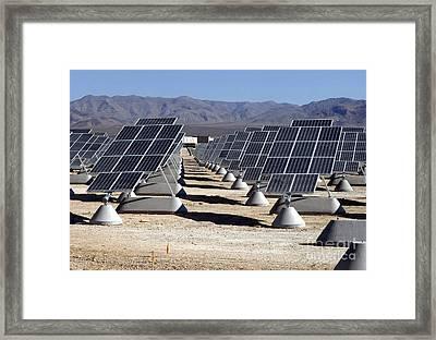 Photovoltaic Solar Power Plant Framed Print