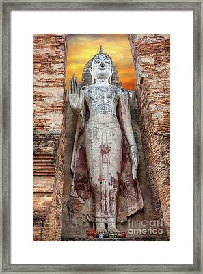 Framed Print featuring the photograph Phra Attharot Buddha by Adrian Evans