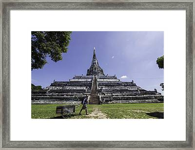 Phu Khao Thong Temple Framed Print by Dylan Newstead
