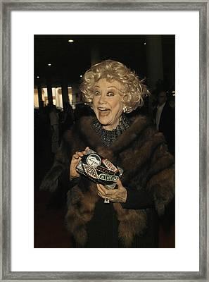Phyllis Diller Framed Print by Nina Prommer