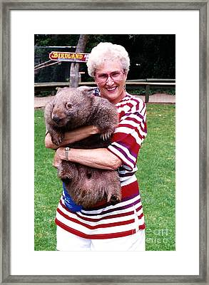 Phyllis Holding Thirty Lb Wombat Australia Framed Print