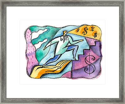 Physician And Money Framed Print