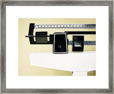 Physician Balance Beam Scale Picture Framed Print