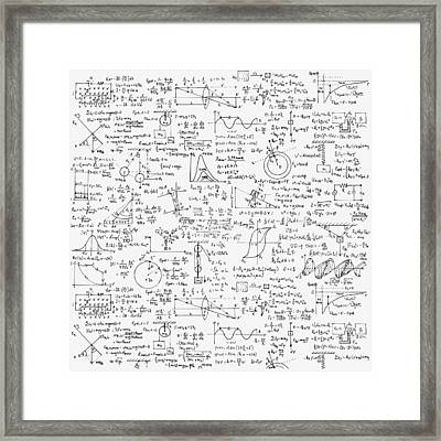 Physics Forms Framed Print by Gina Dsgn
