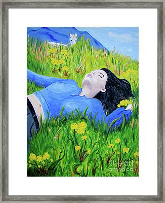 Pia Framed Print by Lisa Rose Musselwhite