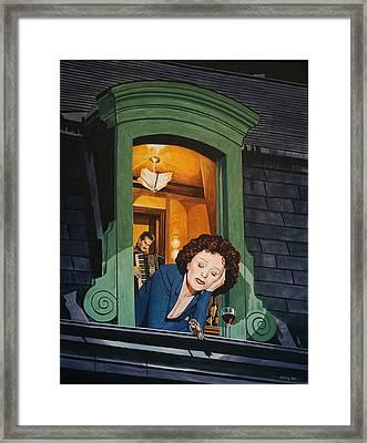 Piaf Framed Print by Jo King