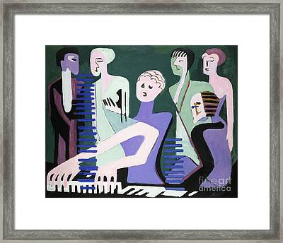 Pianist Framed Print by Celestial Images