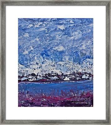 Piankatank  Snowstorm Framed Print