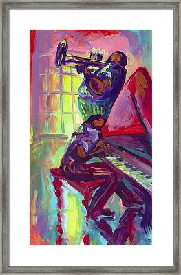 Piano And Trumpet Framed Print by Saundra Bolen Samuel